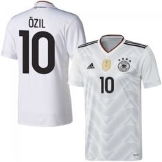 2e9802365 2017 FIFA Confederations Cup Die Mannschaft Mesut Özil 10 White Home Soccer  Jersey Football Shirt Trikot Maglia Playera De Futbol Camiseta De Futbol