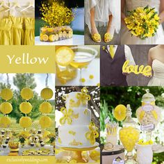 117 best yellow wedding ideas images on pinterest yellow weddings yellow wedding color combination options junglespirit Image collections