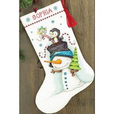 click here to view larger image of Jolly Trio Stocking (counted cross stitch kit) Для Агатика?