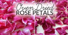 Learn how to dry rose petals for natural body care recipes, crafts, décor and biodegradable confetti. (It takes just minutes!)