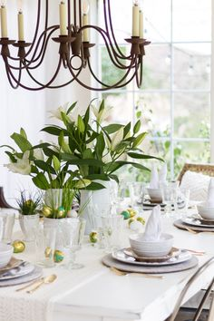 A table set for Easter Entertaining with tips and ideas for the season.