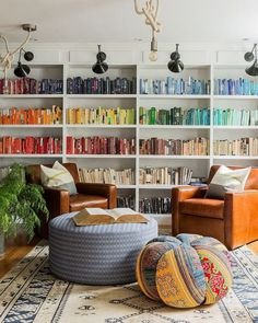 color coordinated books How to Make a Small Room Look Bigger: 25 Tips That Work