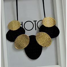 c2cf776612d74 Colliers Fantaisie Collier Cravate Femme Colliers plastrons Cuir Fleur Noir  Colliers Tendance Bijoux pour Soirée Fête