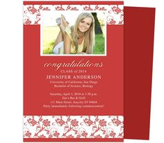 Flower Graduation Template