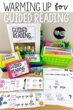 Guided Reading Bundle Levels AA-D - Handprint Kindergarten Guided Reading Organization, Guided Reading Table, Guided Reading Activities, Guided Reading Lessons, Guided Reading Levels, Reading Resources, Reading Skills, Small Group Organization, Reading Workshop