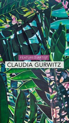 Botanical plant paintings on canvas by Claudia Gurwitz. Available online at StateoftheART. African Plants, Plant Painting, Botanical Art, Plant Leaves, Paintings, Canvas, Artist, Tela, Paint
