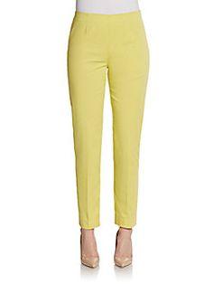 La Via 18 Side-Zip Slim Capri Pants