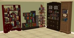 Hello guys! This time I bring you 5 bookcases converted from the Sims 3. They turned out very nice, and each has 2 recolors. I hope you're having a nice day! The files are all compressorized. Download here: http://www.box.com/s/ad008042fedb840b9f8 1