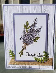 THANK YOU CARD KIT, STAMPIN' UP LOTS OF LAVENDER, FLOWERS, HANDMADE, #HandmadeStampinUp #ThankYou