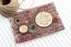 Stamp and Embossing – How To With Jowilna Texture Paste, Moral Stories, Project Yourself, Stencils, Projects To Try, Crafting, Scrapbooking, Stamp, Key