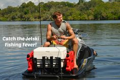What is Jet Ski Fishing? Well it first starts with the right jet ski fishing rack with rod holders and holds a large Cooler. Kool PWC Stuff has what your need! We have a large selection of fishing racks. Jet Ski Fishing, Kayak Fishing, Fishing Tips, Fishing Boats, Fishing Stuff, Jet Ski Accessories, Boat Dealer, Bass Boat, Boat Stuff