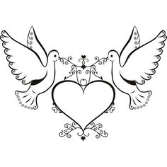 Doves and Love Heart Wall Art Sticker Wall Decals Transfers Hand Embroidery Patterns Flowers, Border Embroidery Designs, Bio For Facebook, Facebook Featured Photos, Wedding Symbols, Studio Background Images, Heart Wall Art, Wedding Cards Handmade, Scrapbook Journal