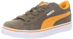 PUMA S Vulc Fashion Sneaker (Little Kid/Big Kid) Puma. $23.99. Rubber sole. Fit: True to Size. Upper: Suede. Outsole: Rubber. leather