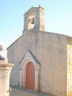 Church facade at Cressac