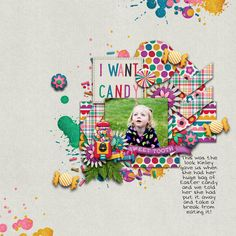 Digital Scrapbook Page by Britt | I Want Candy by Bella Gypsy
