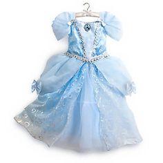 Princess Cinderella Dress Gown Costume Disney Store Size 5/6 NEW!!!!