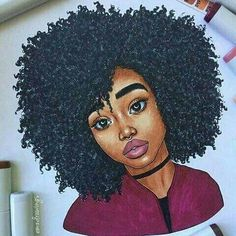 Image result for natural hair doodle
