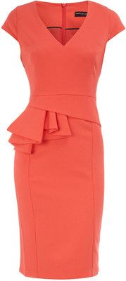 Coral dress - very cute and professional
