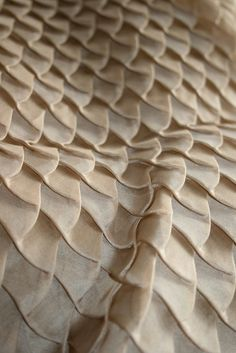 Fabric Manipulation - pleated fabric texture with fish scale pattern; textile design // Amy Pliszka