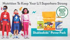Create a healthy foundation for your kids to learn, play and grow with the Shakleekids Power Pack!   Video: http://shaklee.tv/shakleekids-mighty-smart-choice-and-incredivites