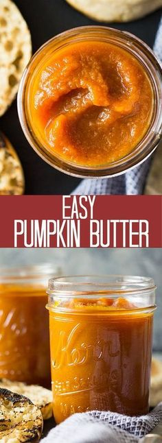 This naturally sweetened Easy Pumpkin Butter will be a great treat this fall! Spread it on biscuits, pancakes, toast or straight from the jar! Pumpkin Butter, Vegan Pumpkin, Pumpkin Recipes, Fall Recipes, Snack Recipes, Dessert Recipes, Pumpkin Spread Recipe, Thanksgiving Recipes, Pumpkin Uses