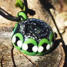 Glass Pendant Necklace Jewelry with Infused Ash - Pinwheel Design