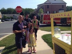 While out in the community this past weekend offering to check residents' smoke alarms, some of the shift from Clarksburg Fire Station 35 took a brief break to quench their thirst while also helping to support a local small business! Photo Courtesy of @ClarksburgMom
