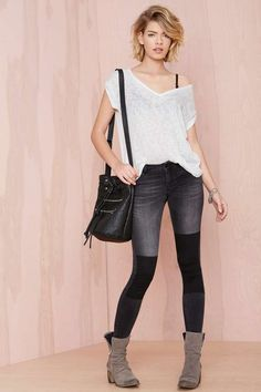 Just Female Play On Jeans - Black