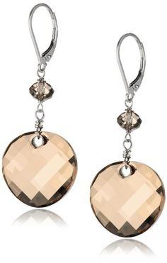 Sterling Silver Swarovski Crystal Elements Crystal Golden Shadow Round Twist and Rondelle Drop Earrings Amazon Curated Collection,http://www.amazon.com/dp/B003ZHUAWI/ref=cm_sw_r_pi_dp_Qxmssb0ME6AE7FVF