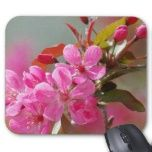Pretty cherry blossom mouse pads for gardeners.