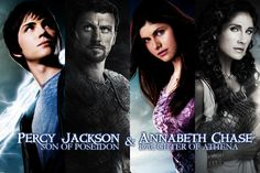Percy Jackson and Annabeth Chase! With Posideon and Athena