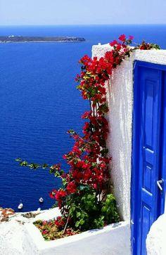 Greek islands. Love the door!