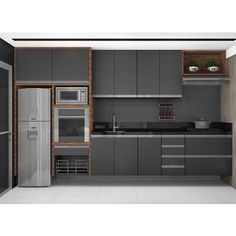 28 sleek & inspiring contemporary kitchen design ideas 28 ~ Home And Garden Kitchen Room Design, Luxury Kitchen Design, Contemporary Kitchen Design, Kitchen Cabinet Design, Home Decor Kitchen, Interior Design Kitchen, Kitchen Ideas, Kitchen Trends, Apartment Kitchen