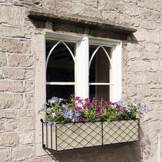 Beautiful window boxes from Garden Requisites available in a variety of finishes
