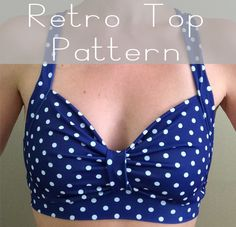 Looking for your next project? You're going to love Retro Yoga Swimsuit Bra Top Pattern by designer Calico Forest.