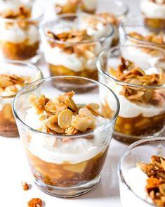 Köstliches Bratapfel Tiramisu | Herbst- Winter Dessert | Printen, Amaretto, Äpfel, Mascarpone, Mandekrokant | Rezept | waseigenes.com #Bratapfeltiramisu