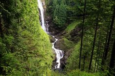 Wallace Lake and the three falls along the North Fork of the Wallace River