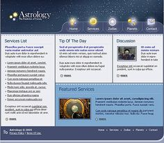 Science Astrology Website Templates by Cotton