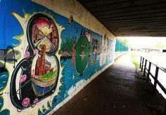 Graffiti. Leeds/Liverpool canal. Liverpool.