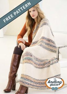 Come home to a cozy and relaxing space, and craft this Northern Border Knitted Blanket. This piece is perfect as you kick back and enjoy a much-needed downtime every day after work. In addition, it's an easy pattern, ideal for beginner knitters to work on. | Discover over 5,500 free knitting patterns at theknittingspace.com #knitpatternsfree #easyknittingprojects #DIY #howtoknitblankets Afghan Patterns, Knitting Patterns Free, Free Knitting, Crochet Patterns, Knitting Needles, Stitch Patterns, Lion Brand Wool Ease, Lion Brand Yarn, Knitted Afghans
