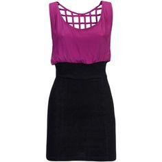 Motel Dress Janine Purple ($45) ❤ liked on Polyvore featuring dresses, vestidos, vestiti, short dresses, women, mini cocktail dress, stretch dress, stretch mini dress, purple dress and little black dresses