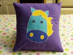 Horse applique cushion made for a birthday pressie
