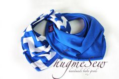 CHEVRON Royal Blue Infant and/or Toddler Bandana Bib - Neckerchief - Baby Scarf - READY to SHIP on Etsy, $8.00