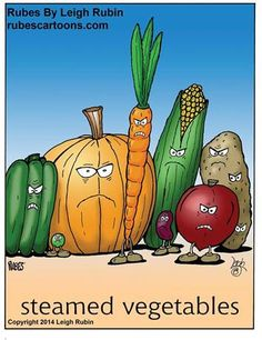 """far side"" cartoon steamed vegetables Funny Puns, Funny Cartoons, Hilarious, Funny Stuff, Corny Jokes, Funny Shit, Funny Things, Funny Sarcasm, Funny Comedy"