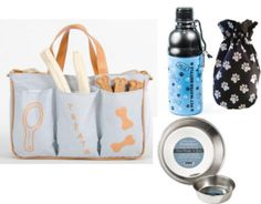 What doggie lover wouldnt love having a designer dog travel bag? You can even personalize it! Makes a thoughtful and unique gift for Valentines Day, Mothers Day, Fathers Day, Christmas, Hanukkah, Anniversary, Graduation, and a birthday. Treat yourself and your pooch to one too! Our all inclusive package includes the following:  - one striped Pet JetSetter travel bag (see our individual listing for more info) - two 16 oz. stainless bowls - cinch food bag (holds 14 oz of food) - see our…
