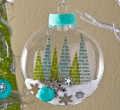 Decoupage - Winter Wonderland Paper Trees and Snow Ornament