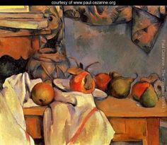 Still Life With Pomegranate And Pears - Paul Cezanne - www.paul-cezanne.org