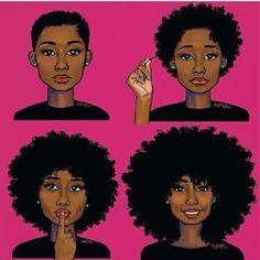 from big chop to the long natural hair                                                                                                                                                     More
