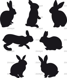silhouettes hare and rabbit