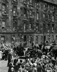 The Queen & Duke visit Glasgow, 1957 Visit Glasgow, Glasgow City, Glasgow Scotland, Edinburgh, Gorbals Glasgow, Scottish People, The Second City, Slums, Places Of Interest
